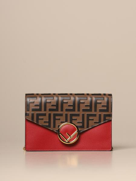 Fendi leather bag with all over FF logo