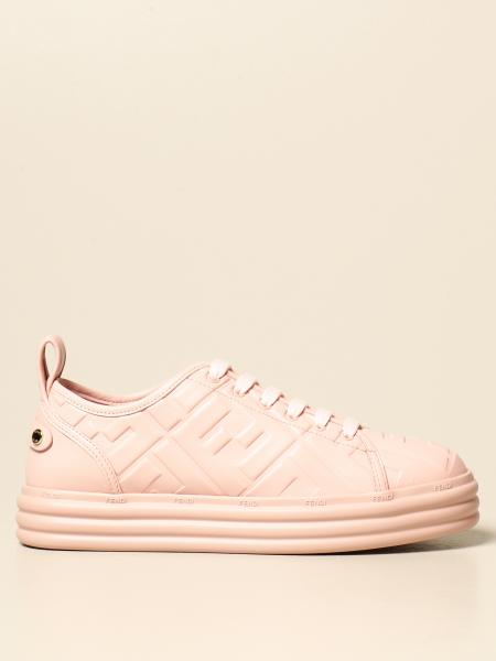 Fendi sneakers in leather with embossed logo