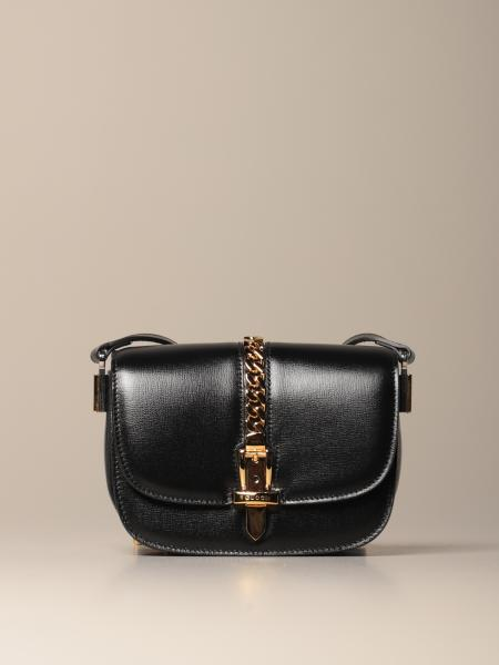Gucci mini Sylvie bag in leather with chain