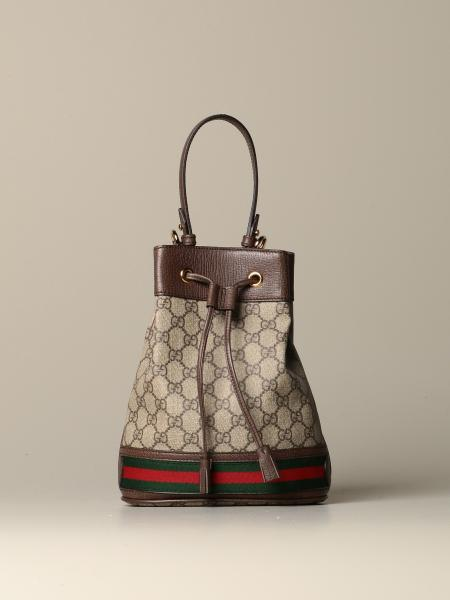 Borsa a secchiello Ophidia Gucci in GG Supreme