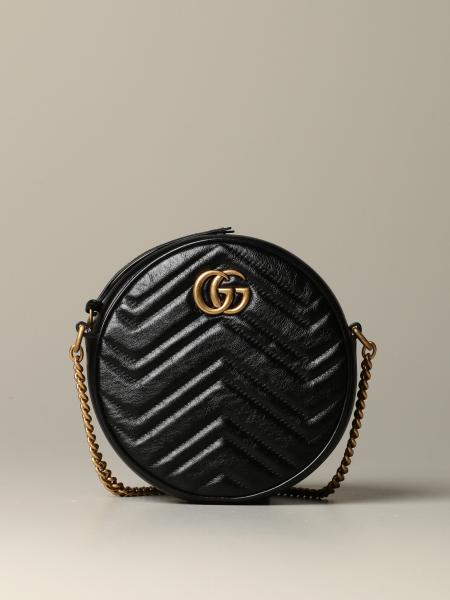 Gucci Marmont 绗缝皮革斜挎包