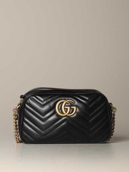 Gucci Marmont 绗缝皮革相机包