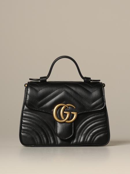 Marmont Gucci 绗缝皮革手提包