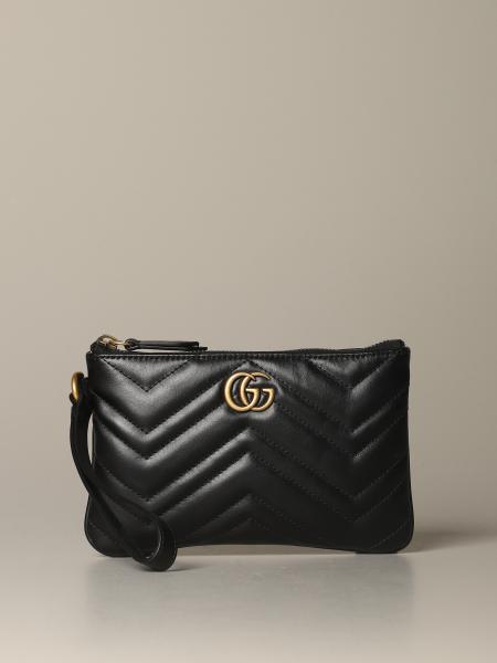 Gucci Marmont 绗缝皮革手拿包