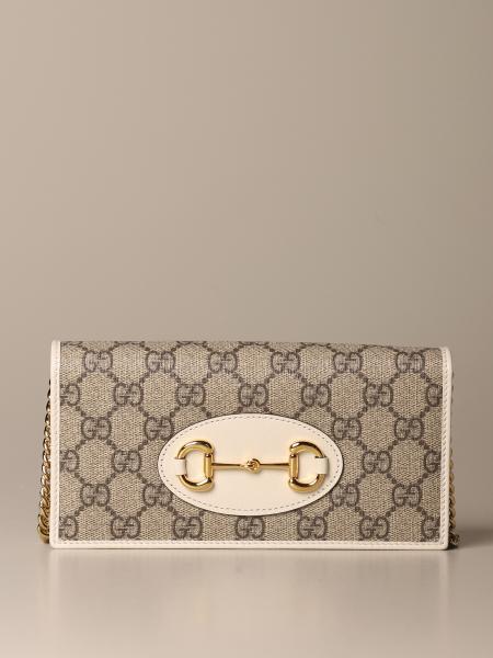 Gucci 1955 Horsebit GG Supreme 织物手包