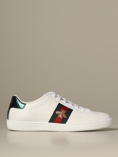 Sneakers Ace Gucci in pelle con fasce Web e Ape