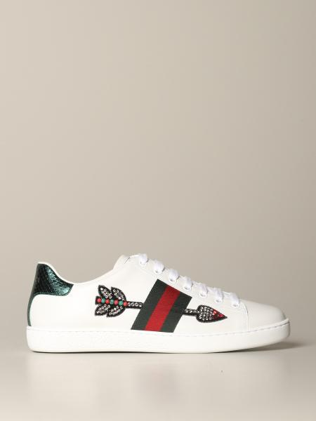 Sneakers Ace Gucci in pelle con patch freccia