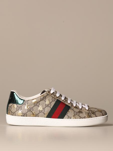 Gucci Ace sneakers with GG Supreme print and laminated bees