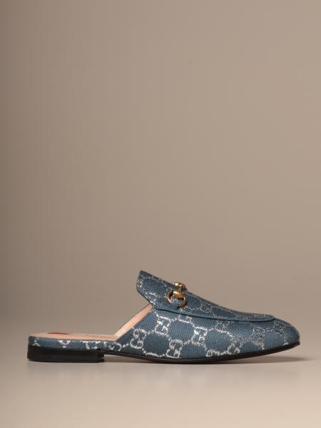Gucci Princetown slipper in GG lamé fabric with horsebit