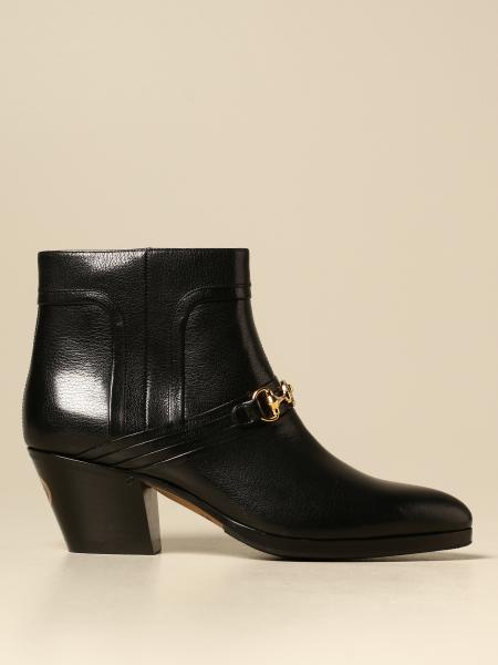 Zahara Gucci Texan ankle boots in leather with horsebit