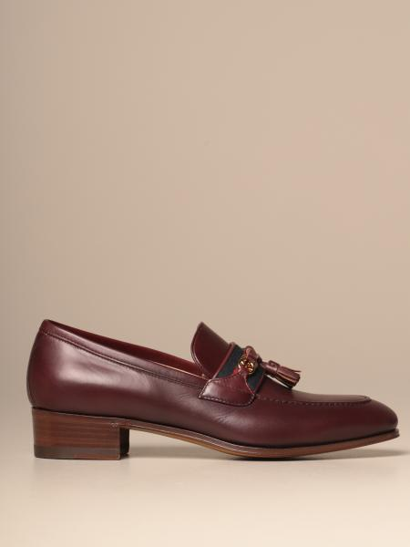 Gucci Paride loafer in leather with Web band