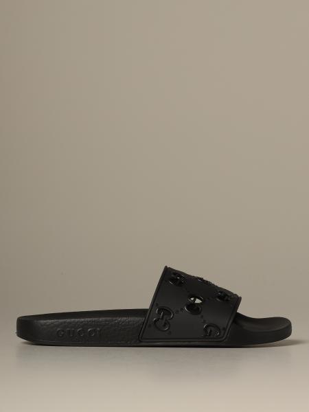 Gucci GG 橡胶滑跟拖鞋凉鞋
