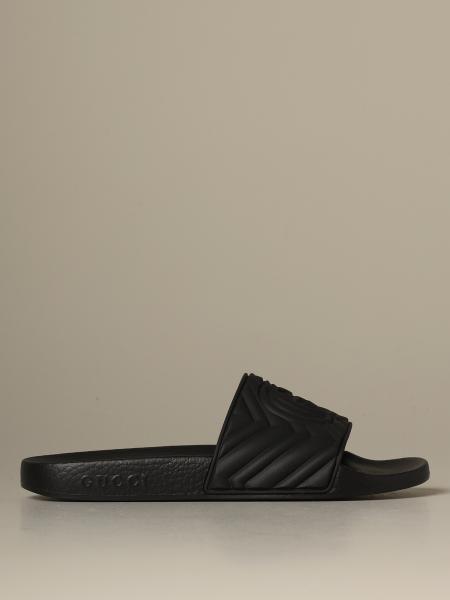 Gucci Pursuit rubber sandal with GG matelassé monogram