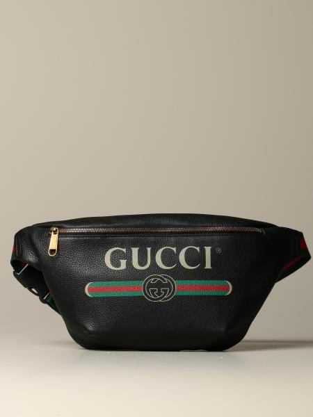 Gucci Print pouch in textured leather