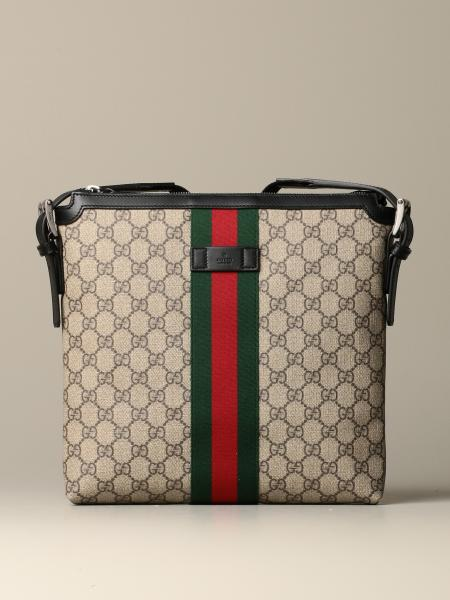 Gucci shoulder bag in GG Supreme fabric with Web detail