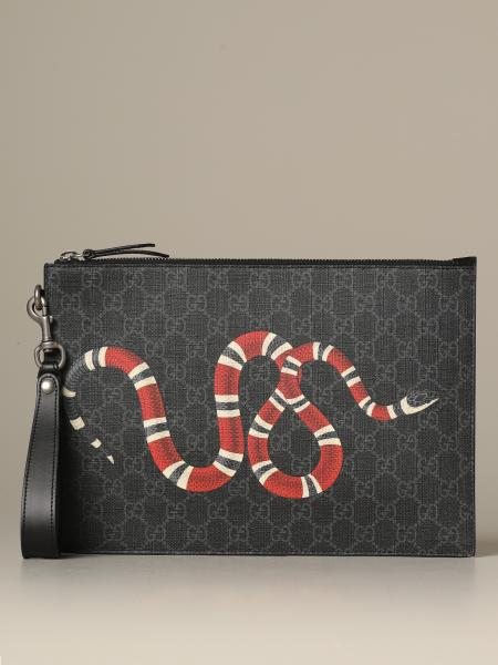 Gucci Bestery clutch bag with snake print