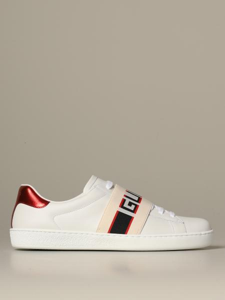 Gucci New ace leather sneakers with Gucci Sport elastic band