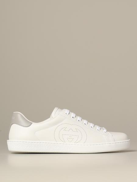 Gucci Ace leather sneakers with colored heel