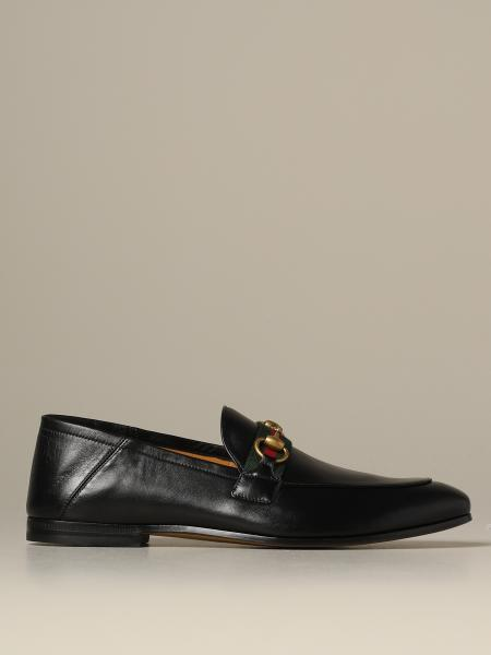 Mocassino Web brixton Gucci in pelle con morsetto