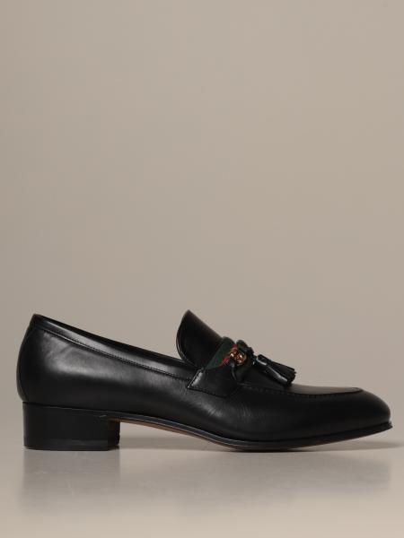Paride Gucci loafers in leather with Web band