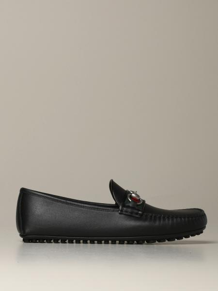Kanye Gucci leather loafer with horsebit