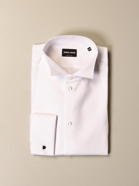 Giorgio Armani: Giorgio Armani shirt in cotton with diplomatic collar
