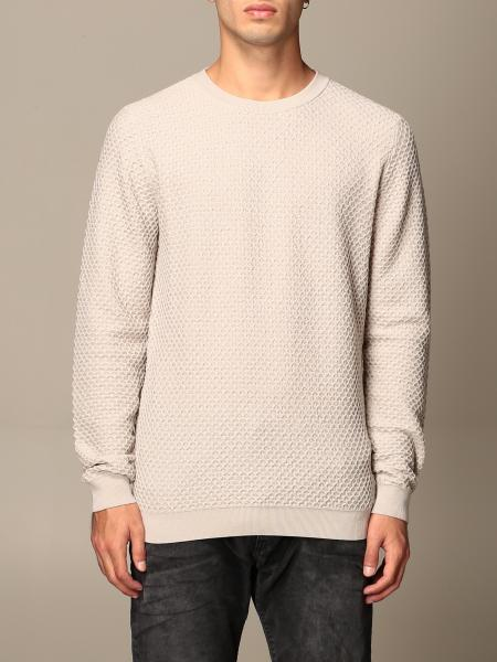 Giorgio Armani: Giorgio Armani crewneck sweater in honeycomb virgin wool blend
