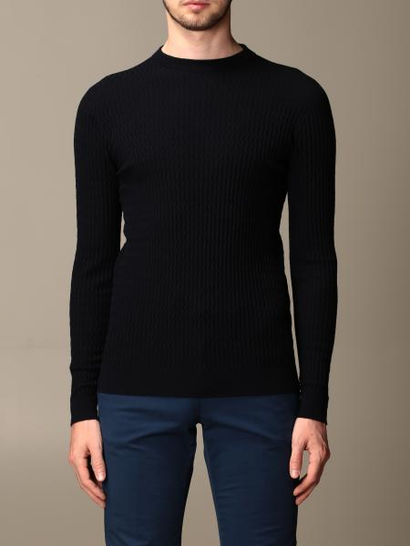 Giorgio Armani: Giorgio Armani sweater in wave virgin wool blend