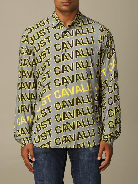 Camicia Just Cavalli con logo all over