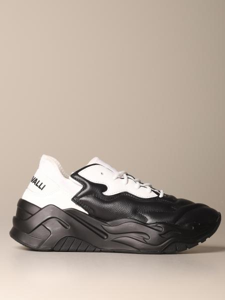P1thon Just Cavalli sneakers in leather and neoprene