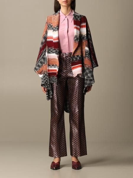 Poncho Missoni in lana a multi righe