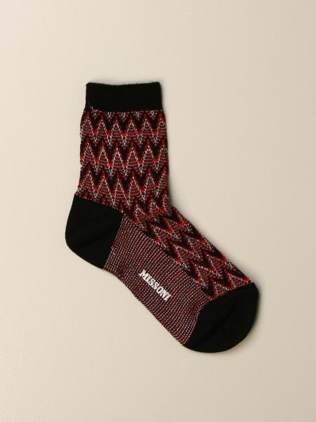Missoni zigzag lurex knit socks