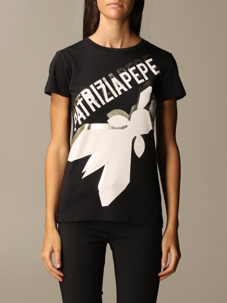 Patrizia Pepe: T-shirt Patrizia Pepe in cotone con logo fly