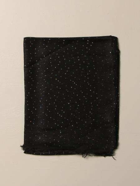 Patrizia Pepe viscose and modal scarf with sequins