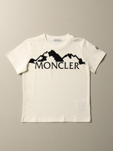 Moncler: Moncler cotton t-shirt with flock logo