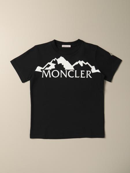 Moncler cotton t-shirt with flock logo