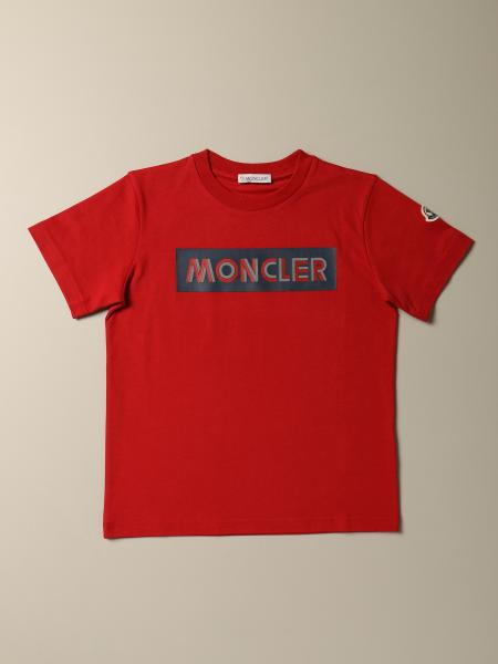 Moncler: Moncler cotton T-shirt with rubberized logo