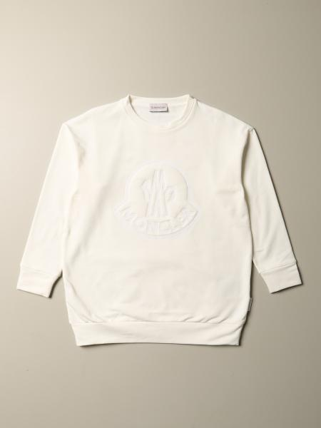 Moncler: Moncler cotton sweatshirt with embossed logo