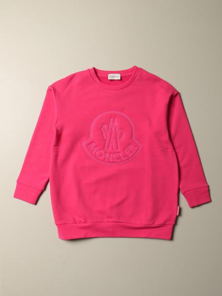 Moncler cotton sweatshirt with embossed logo