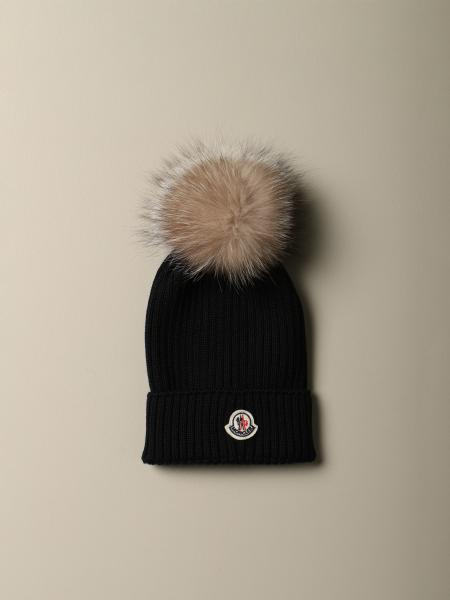 Moncler wool hat with maxi pompom