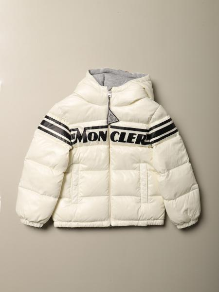 Moncler Nasse down jacket in padded and shiny nylon with logo
