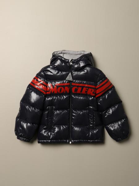 Moncler: Moncler Nasse down jacket in padded and shiny nylon with logo