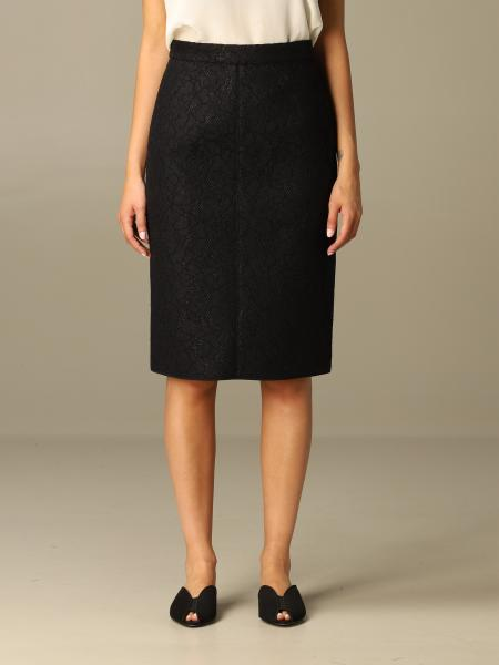 N ° 21 pencil skirt in coupled technical lace