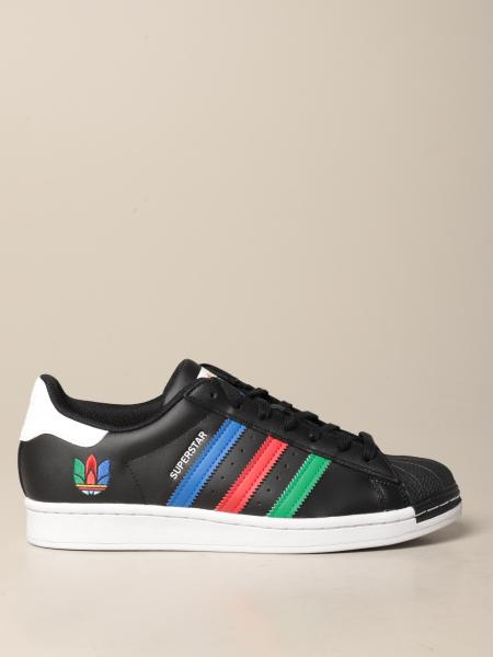 Adidas: Sneakers Superstar Adidas Originals in pelle con trifoglio multicolor