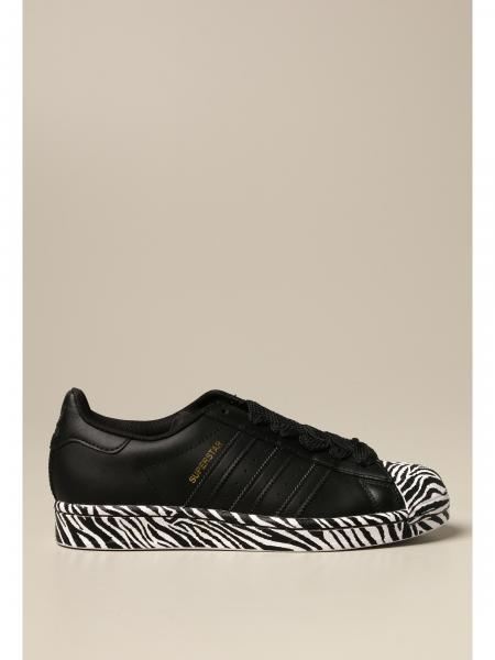 Adidas: Sneakers Superstar W Adidas Originals in pelle e dettagli animalier