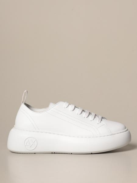 Armani Exchange sneakers in synthetic leather with maxi sole