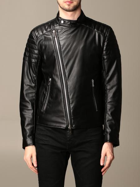 Chiodo Armani Exchange in pelle sintetica con zip