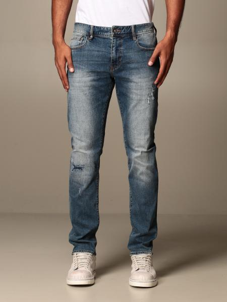 Jeans Armani Exchange in denim stretch con rotture
