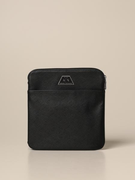 Armani Exchange bag in synthetic saffiano leather