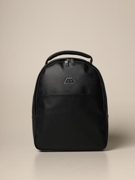 Armani Exchange backpack in saffiano synthetic leather
